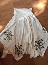 RARE MICHAEL SIMON WORKSHOP   Hand Crafted Ivory Jeweled Cape Poncho NWT XL 2XL