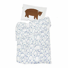Fine Little Day Scandinavian kids baby Cot Crib Organic Bedding set-Bruno Bear