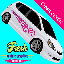 VEHICLE GRAPHICS CLIPART-VINYL CUTTER PLOTTER IMAGES-EPS VECTOR CLIP ART CD