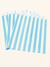 Light Blue Paper Bags X50 5x7 Kids Party Loot Cake Gift Candy Buffet Frozen