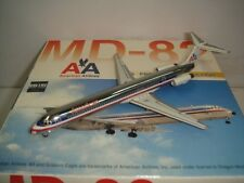 "Dragon Wings American Airlines AA MD-82 ""1990s colors - Chrome Fuselage"" 1:400"
