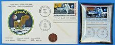 APOLLO 11 ENVELOPE / TRAY pair '69 vtg NASA postal COVER Moon Landing EAGLE