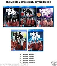 MISFITS COMPLETE SERIES 1 2 3 4 5 BLU RAY Set Brand New and Sealed UK MIS FITS