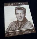 Elvis Presley-Kiss Me Quick-1961 Australian 'Sample Only' issue sheet music-Rare