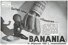 ▬► PUBLICITE ADVERTISING AD chocolat chocolate  BANANIA  1931