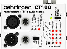 New Behringer Cable Tester CT100 Buy it Now! Make Offer! Auth Dealer!