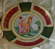 Red Green Gold Scrolling Roman Themed Decorative Plater
