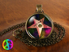 David Bowie Star on Hollywood Necklace Antique Jewelry Glass Photo Pendant Gift