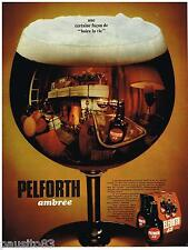 PUBLICITE ADVERTISING 0105  1970  PELFORTH  bière ambrée 2