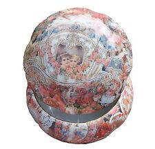 VINTAGE PORTAGIOIE portagioie ceramica decoupage Victorian Style Hearts & cherubs