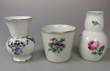 3 schöne alte kleine Porzellanvasen Vasen mit Handmalerei