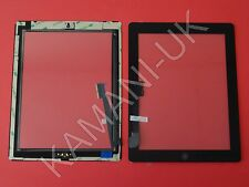 Per iPad 3 & 4 Touch Screen Digitizer vetro di ricambio nero con Pulsante Home