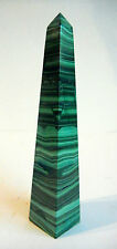 OBELISK MALACHITE POLISHED CRYSTAL made NAMIBIA 160mm GEMSTONE 214g st91