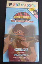 NEW Sealed VHS Tape: PBS For Kids Adventures From The Book Of Virtues COURAGE