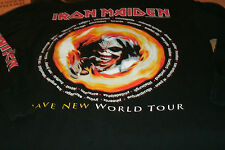 """IRON MAIDEN """"Brave New World"""" US/Canada Tour Shirt Long Sleeve XL Printed Sleeve"""