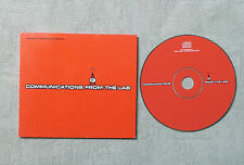 """CD AUDIO INT/ VARIOUS """"COMMUNICATIONS FROM THE LAB"""" CD COMPILATION FC SAMPLER 3"""