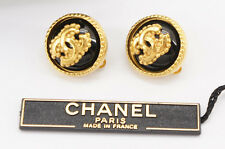 Auth CHANEL Earrings Clips '96/A Made in France w/box Free Ship 668r25