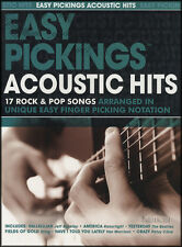 Easy pickings acoustic hits 17 rock & pop chansons fingerpicking tab music book