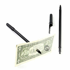 1pc Magic tricks Black Magnetic Ball Pen Through Banknote Joke Paper Money Jokes