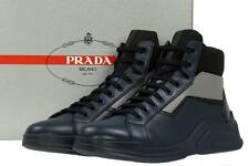 NEW PRADA MEN'S LEATHER LACE-UP ANKLE BOOTS HIGH TOP SNEAKERS SHOES 10/US 11