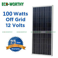 100 Watt 100W 12V Solar Panel Battery Charge for RV Boat Home TV Appliance Power