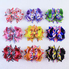 New Fashion 5inch Big Hair Bow Dovetail  Zootopia Hair Clip 2802D-7-15-K