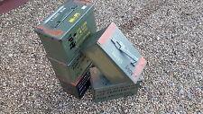 ex army ammo box storage tin army surplus amunition box