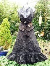 Quirky Gothic Bustle Hitch Ruffle Skirt Pagan STEAMPUNK Punk Rave Larp 12 Pirate