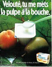 PUBLICITE ADVERTISING 106  1983  Le yaourt velouté de Danone  pulpe fruits
