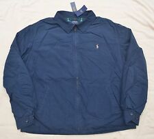 New 4XB 4XL BIG 4X POLO RALPH LAUREN Mens Landon Jacket Blue windbreaker XXXXL