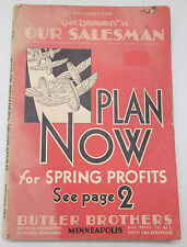 Feb. 1931 Butler Brothers Catalog Rare Our Salesman Plan For Spring Profits 2779