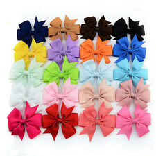20pc infant Baby Girl Toddler Hair Bows Alligator Clip Grosgrain Ribbon Headband