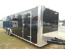 NEW 2016 8.5 X 28 8.5X28 BLACK ENCLOSED RACE CARGO CAR HAULER TRAILER - LOADED!