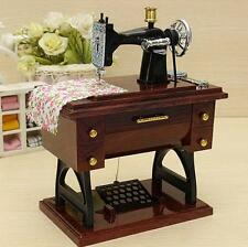 Vintage Mini Sewing Machine Music Box Sartorius Model Musical Toy Decoration M