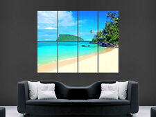 TROPICAL BEACH LUXURY SEA PALM TREES  GIANT WALL POSTER ART PICTURE PRINT LARGE