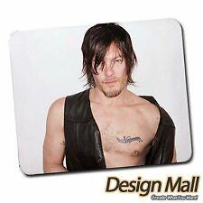 New Sexy Daryl Dixon Norman Reedus Popular Mouse Mat Pad Mousepad FREE SHIPPING