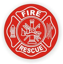Fire & Rescue Hard Hat Decal / Helmet Sticker Firefighter Squad Ambulance Truck