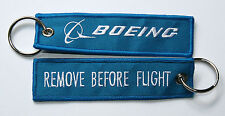 Boeing  - Remove before flights - Schlüsselanhänger Keyring blau blue
