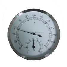 Stainless Steel Case Sauna Room Thermometer Hygrometer -0°c~120°c Outdoor
