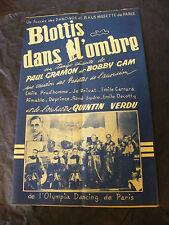Partition Blottis dans l'ombre Paul Gramon Bobby Gam Quintin Verdu Music Sheet