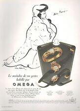 ▬► PUBLICITE ADVERTISING AD MONTRE WATCH OMEGA Pierre SIMON Années 50