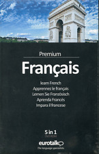 EuroTalk Premium Francais French 5 in 1 DVD language course for Mac/Win New.