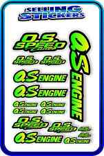 RC AIRCRAFT STICKERS HELI OS ENGINES CAR BUGGY O.S SPEED NITRO PIPE GREEN YELL B