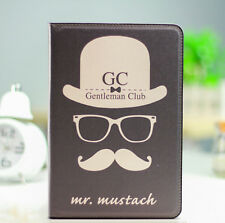 Kolorfish Designer Mustache Mini Leather Case Cover For iPAD Mini / Mini 2 -