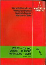 Deutz TRATTORE-dx85 dx90 DX110 DX140 dx160 Workshop Service Manual
