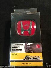 J's Racing Style HONDA STEERING WHEEL RED BADGE EMBLEM LOGO TYPE R CIVIC INTEGRA