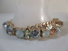 Abercrombie & Fitch Crystal Gold Link Two Tier Bracelet NIP $49 set of 2