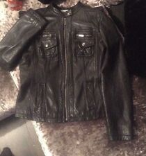 Men's Black Michael Kors Leather Jacket (Genuine)