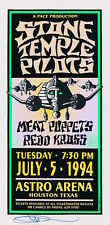 MINT & SIGNED Stone Temple Pilots 1994 Houston Astro Arena Arminski Handbill
