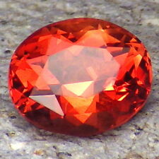 INTENSE RED SCHILLER OREGON SUNSTONE 4.07Ct FLAWLESS-INVESTMENT GRADE GEMSTONE!!